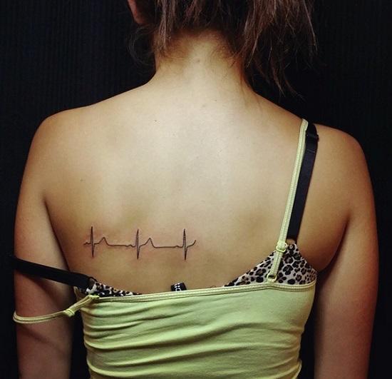 Ритм сердца/ ЭКГ. тату, татуировки