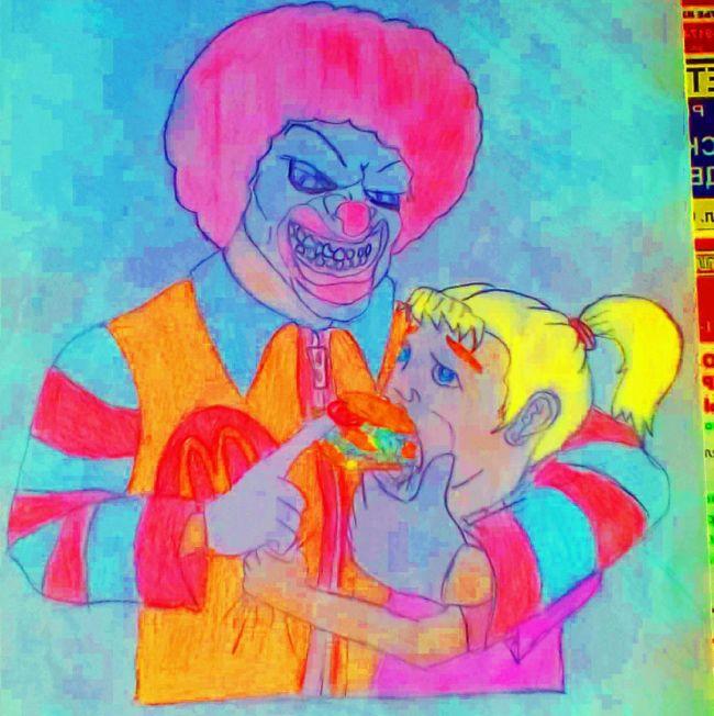 Нестандартный детский рисунок для конкурса от Макдоналдса конкурс, макдональдс, рисунок