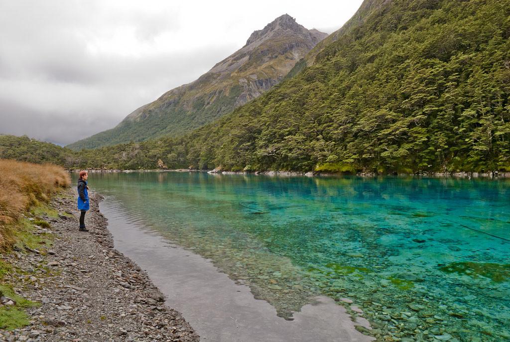 4. Голубое озеро, Новая Зеландия в мире, вода, планета