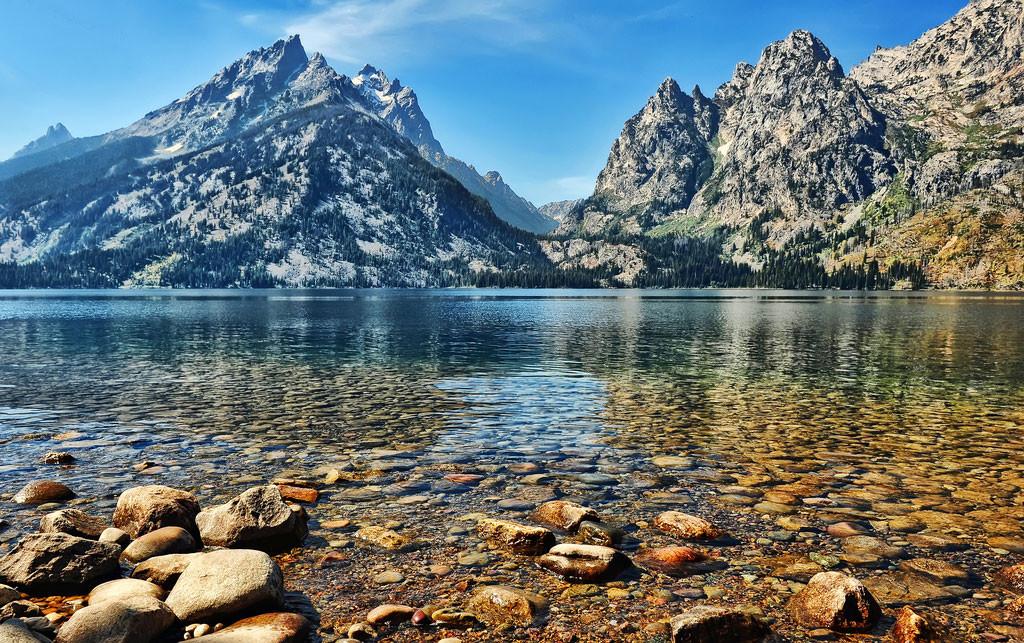 15. Озеро Дженни (Jenny Lake), штат Вайоминг в мире, вода, планета