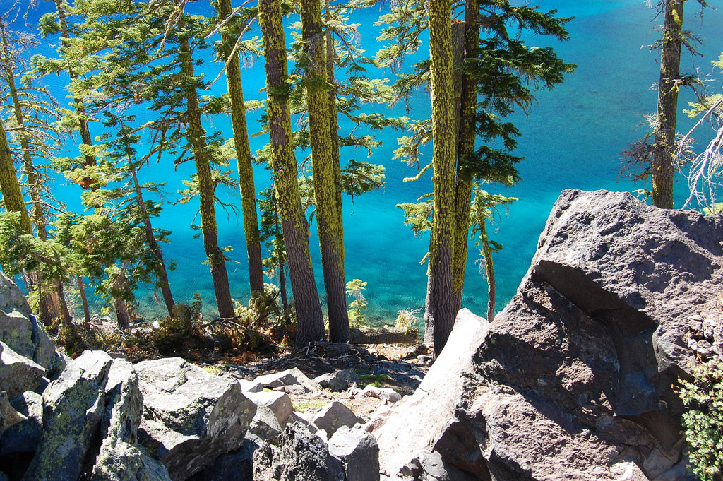 12. Кратерное озеро Крейтер, штат Орегон, США в мире, вода, планета