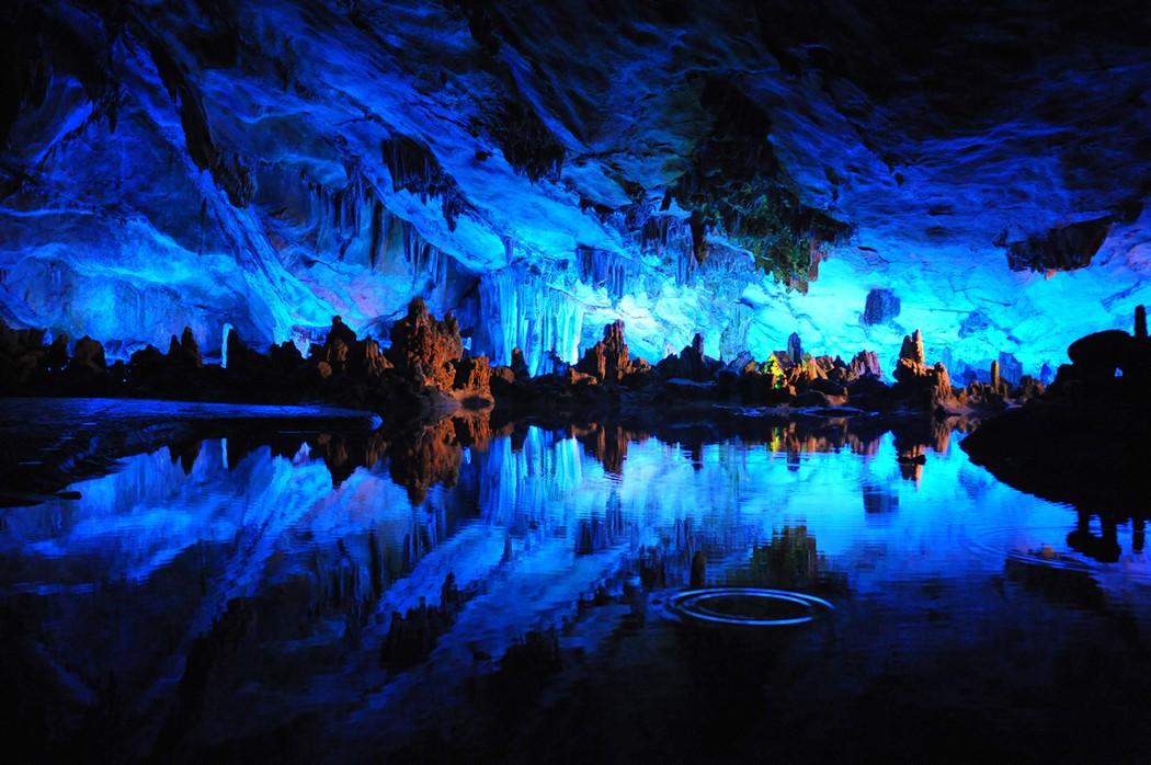 4. Китай. Пещера тростниковой флейты. (Cheddarcheez) земля, природа
