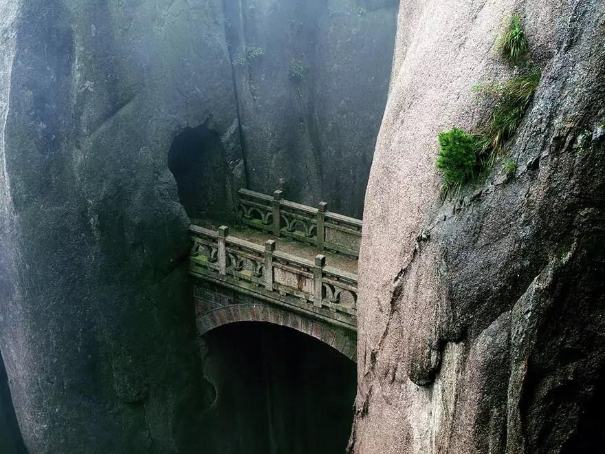 Мост в Хуаншань, Аньхой, Китай в мире, мост