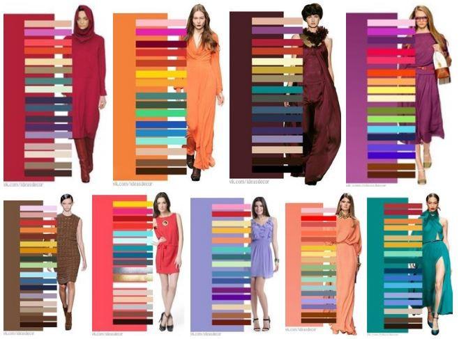 23. Сочетание цветов девушки, мода, одежда, стиль, шпаргалка