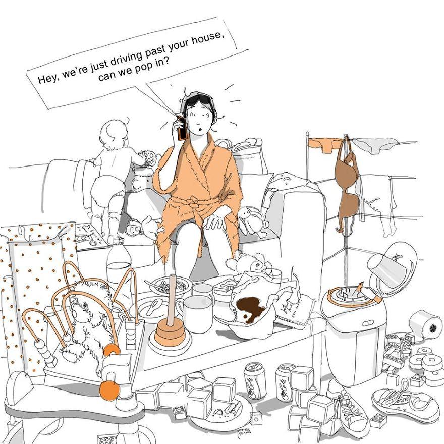 9. Внезапные гости дети, комиксы, материнство, прикол, родители