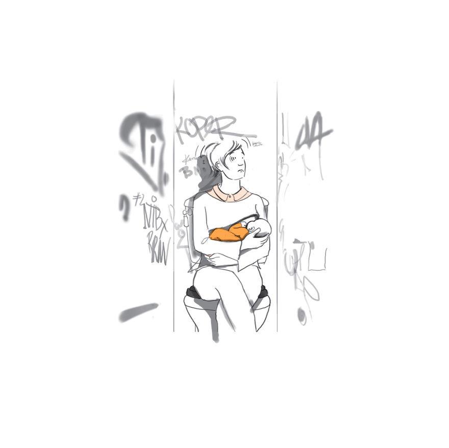 12. Кормление грудью на людях дети, комиксы, материнство, прикол, родители