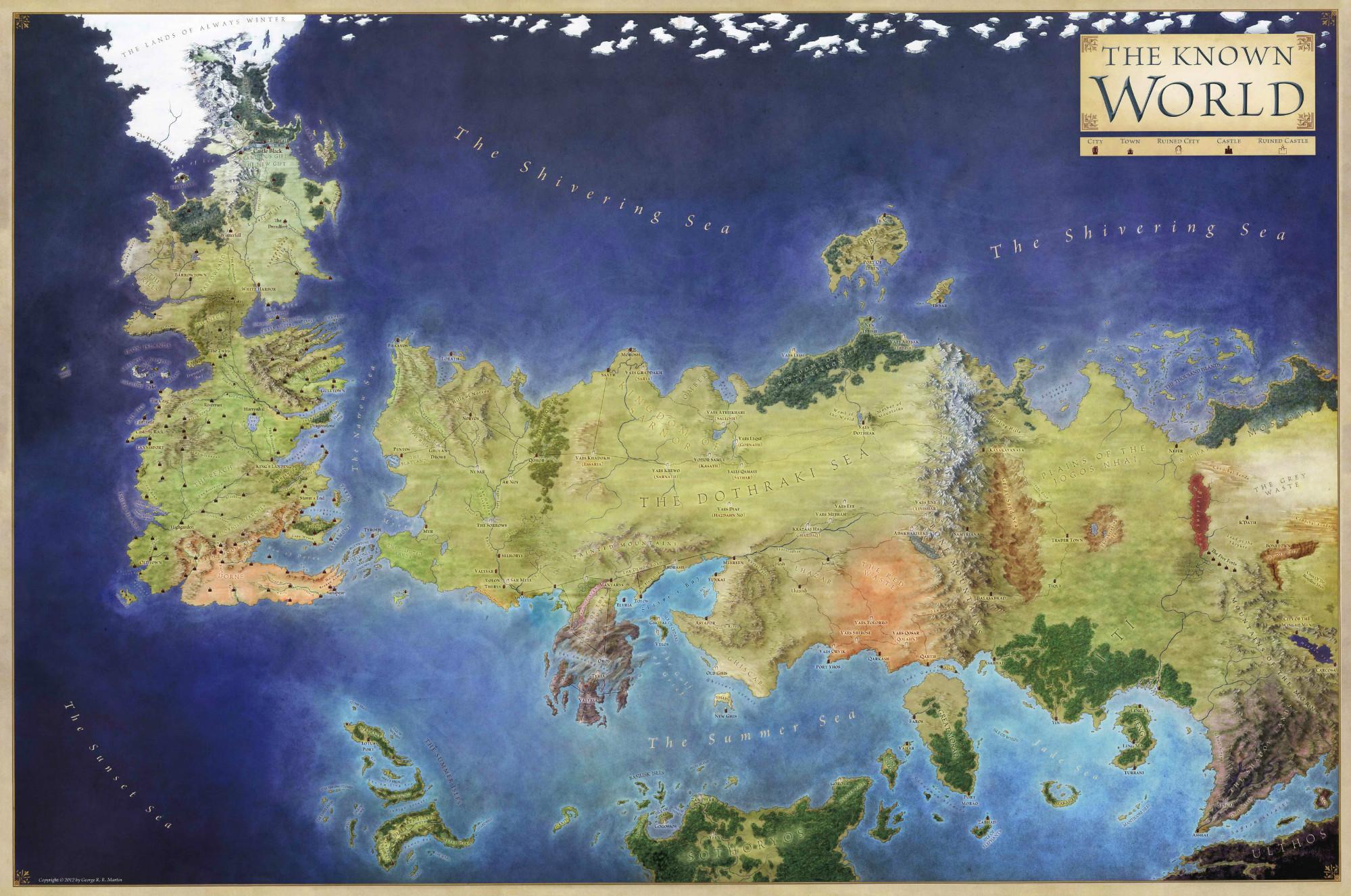 1. Мир «Песни Льда и Огня». Несуществующие миры, карты, фэнтези