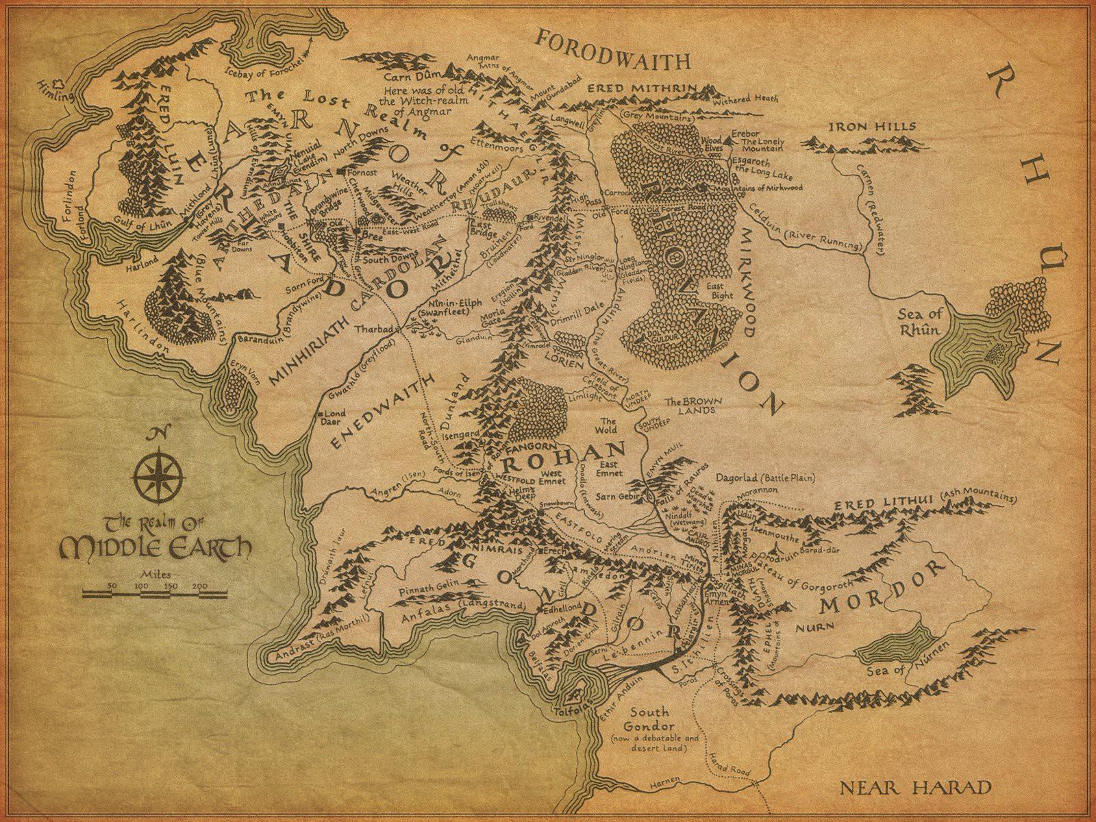 2. Средиземье. Несуществующие миры, карты, фэнтези