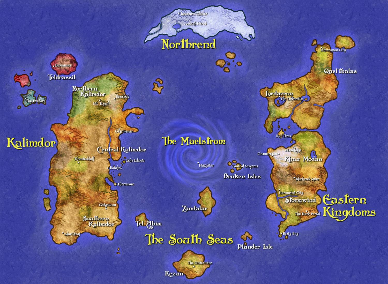 5. Вселенная Warcraft. Несуществующие миры, карты, фэнтези