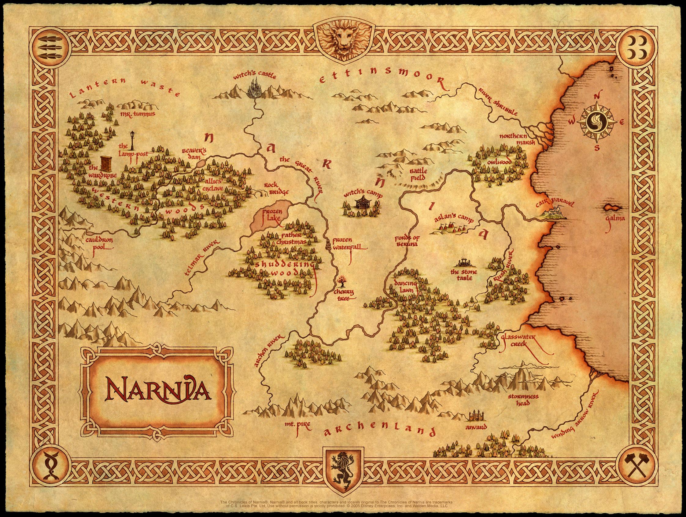 13. Нарния. Несуществующие миры, карты, фэнтези