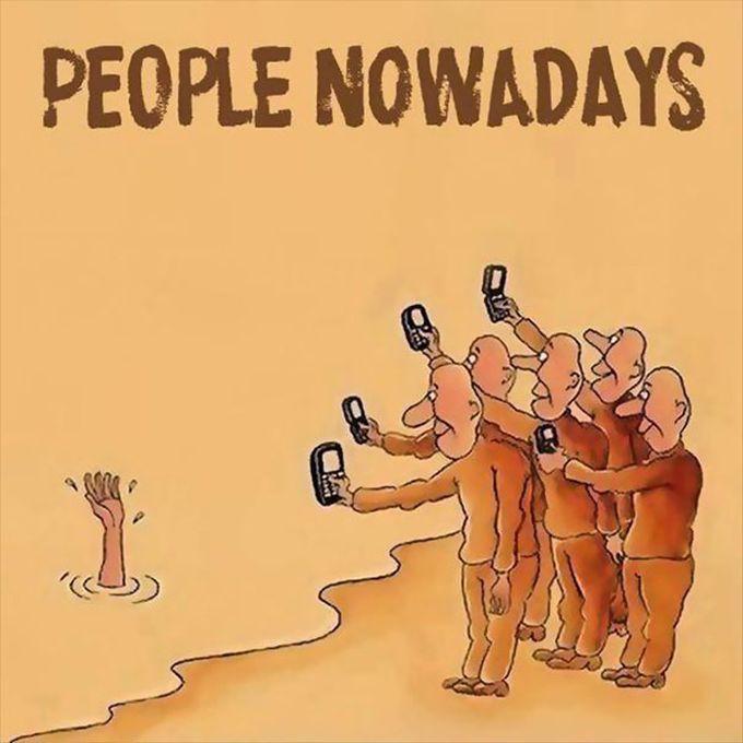 18 отрезвляющих иллюстраций о том, как смартфоны завладели нашей жизнью жизнь, иллюстрации, смартфоны