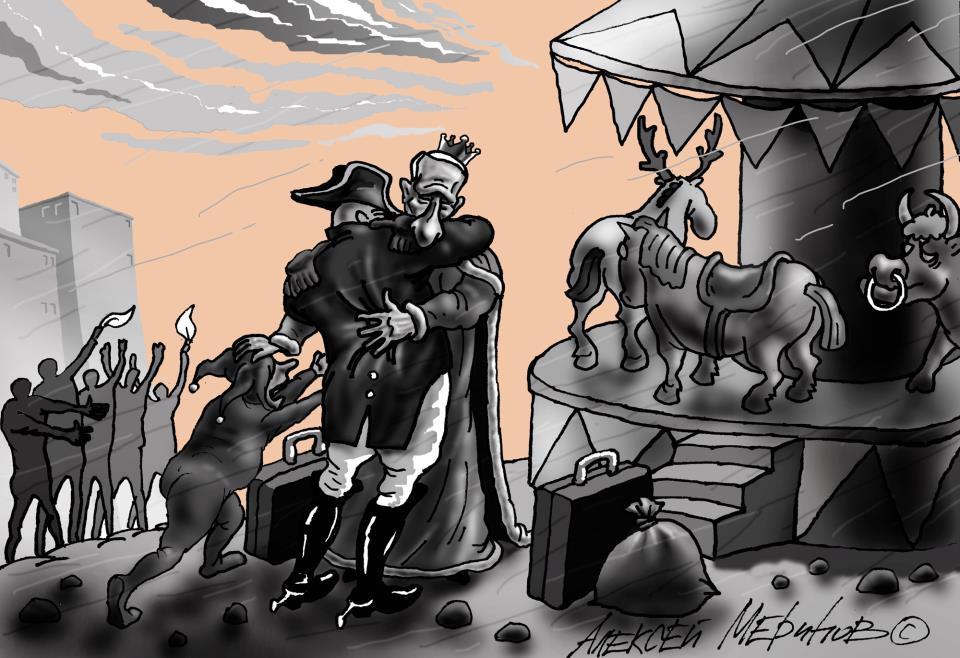 17. «Уход» Путина с поста президента. Алекксей Меринов, карикатуры, рисунки