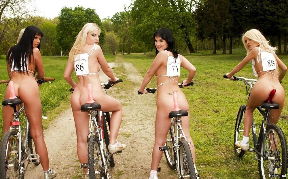 Велосипед с фаллоимитатором видео