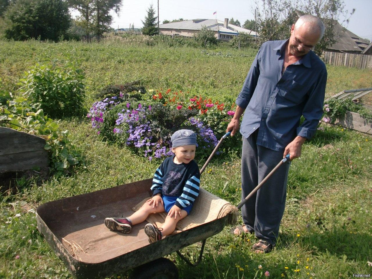 Картинки в деревне у бабушки, смешные подруге
