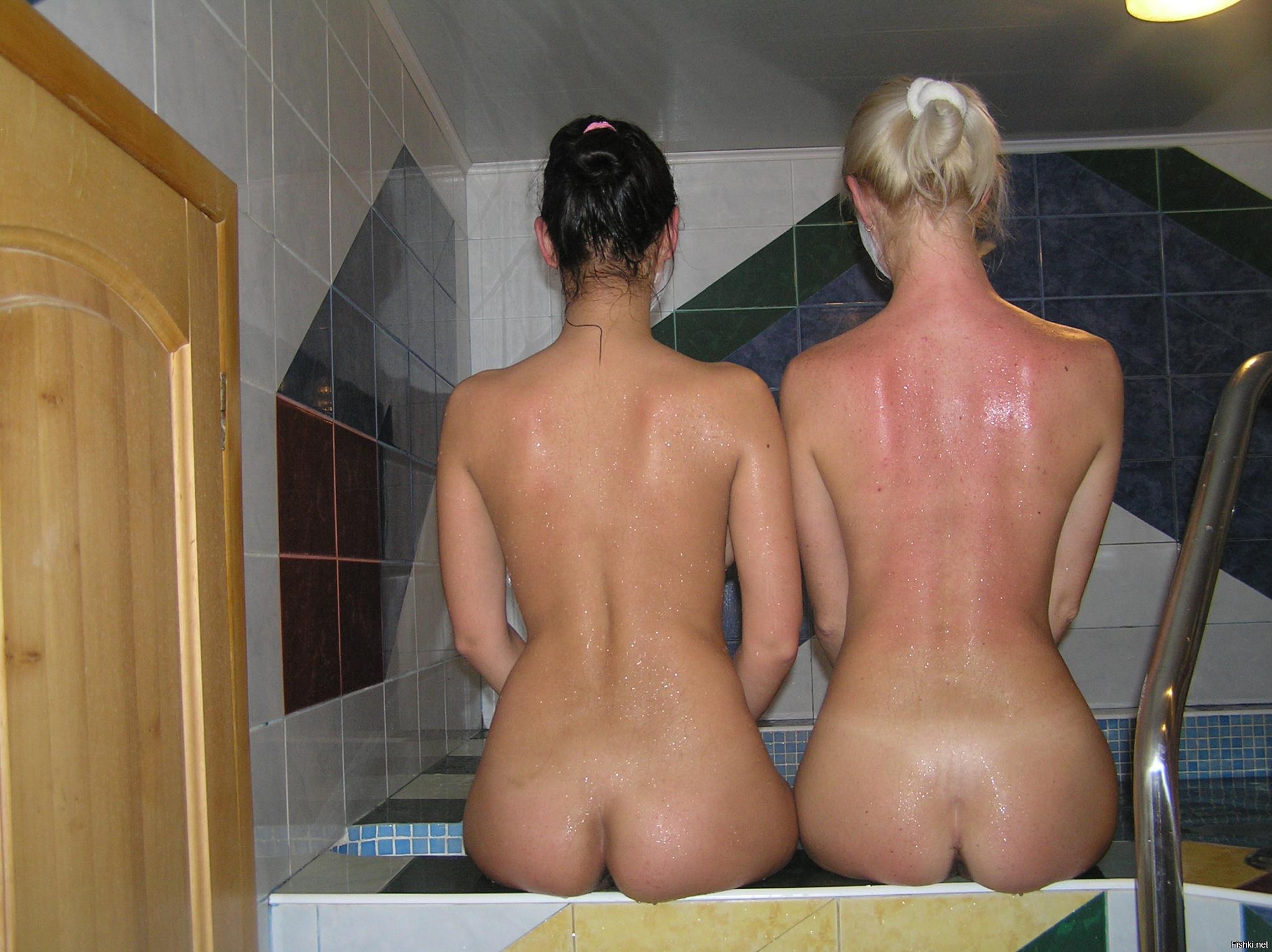 Частное фото с девушками из бани и сауны, Девушки в бане -фото. Голые девчонки кайфуют 24 фотография
