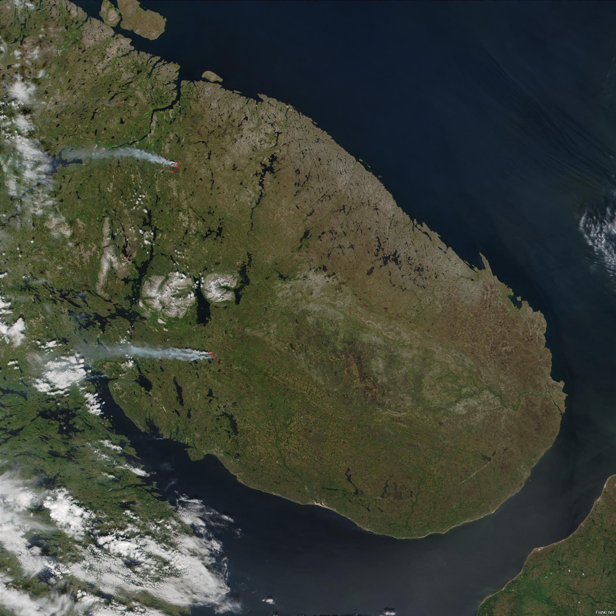 Мурманская область фото со спутника