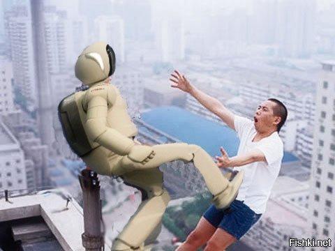 Картинка вкалывают роботы а не человек