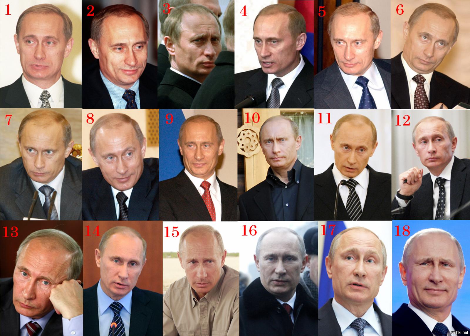 Двойники Путина - сколько их найдено в России
