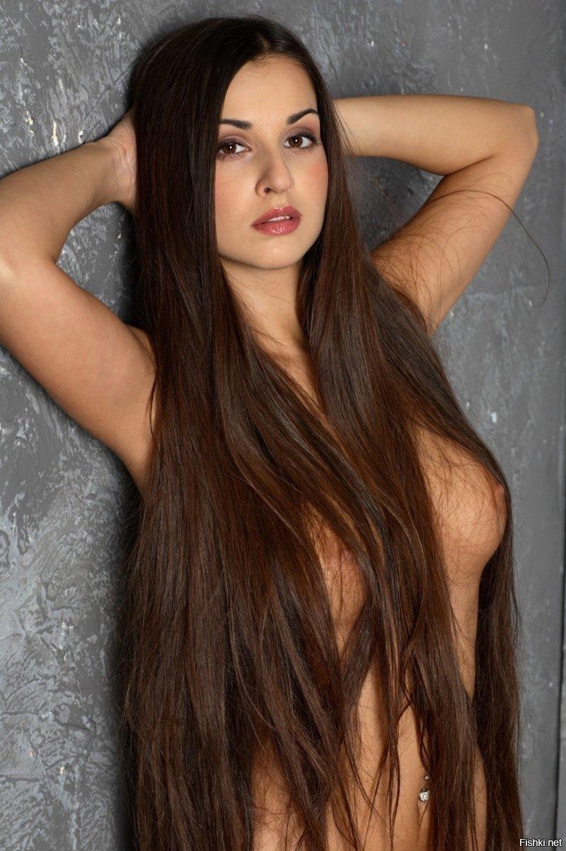 Девушек брюнеток длинными волосами красивые hjnbrf с фото