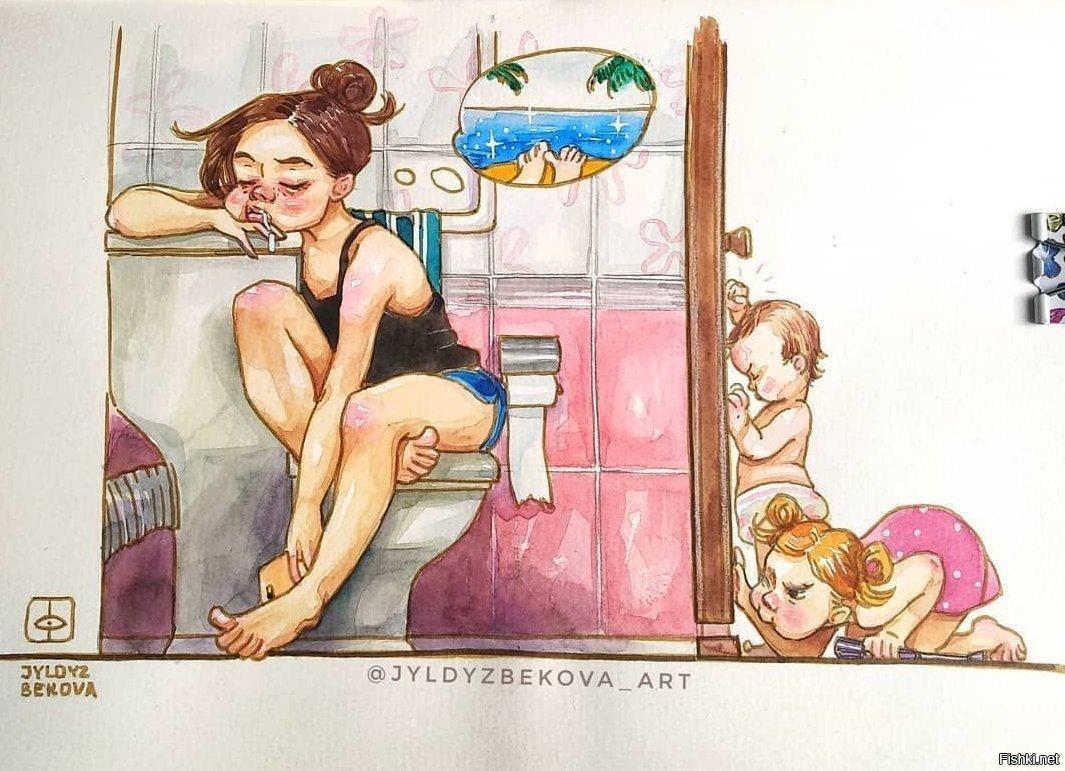 мама и дочка картинки юмор довезли медроты