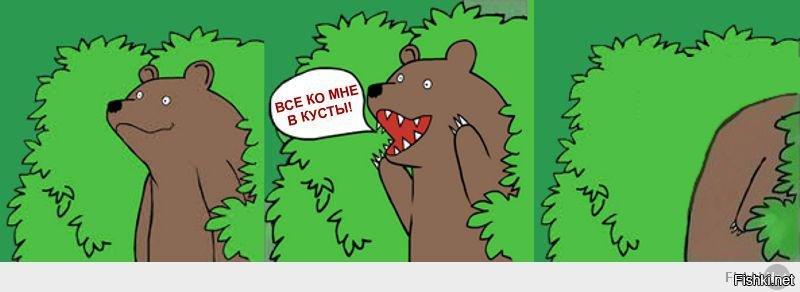 Картинки про медведя с цитатами голода