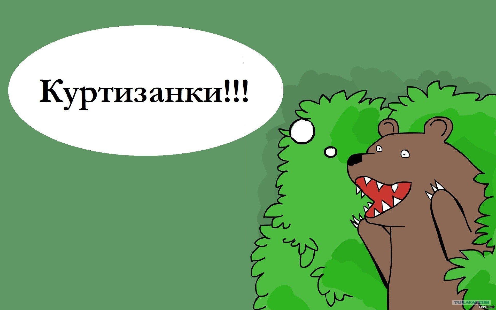 медведь из кустов кричит картинка оладьи