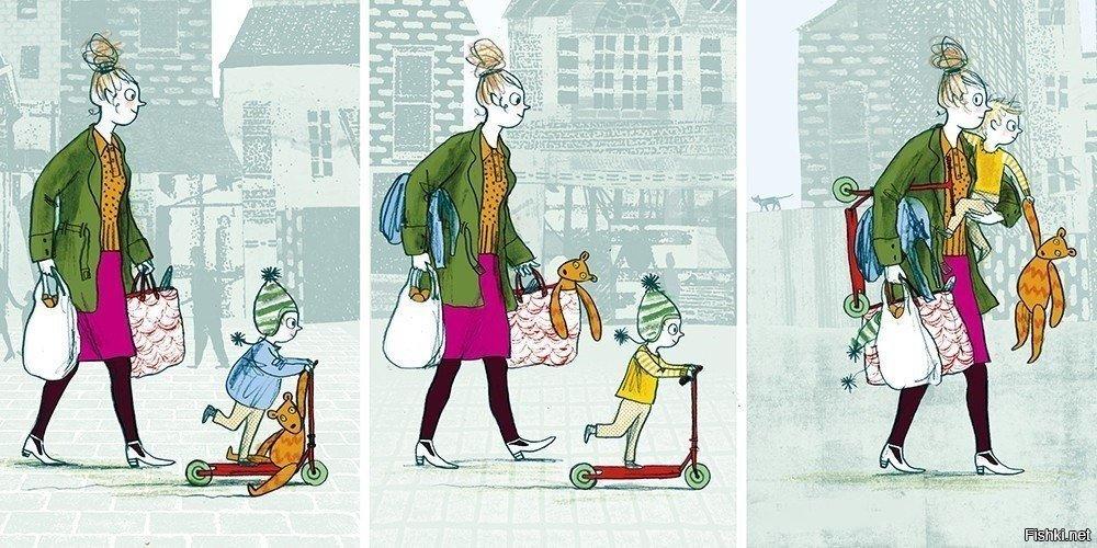 Прикольные картинки мамы с ребенком