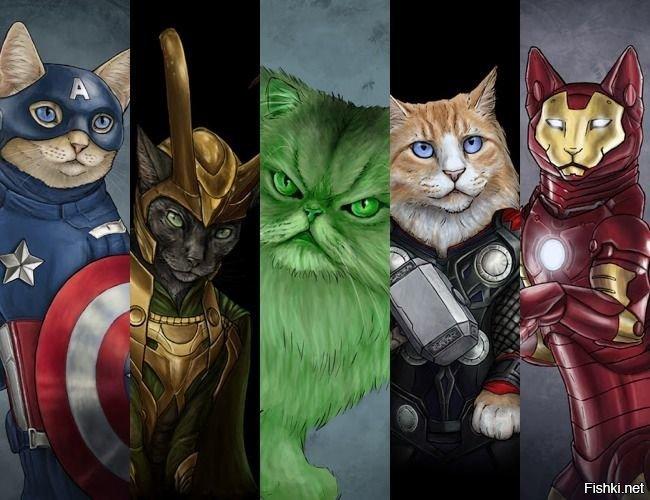 Супергерои кошки картинки