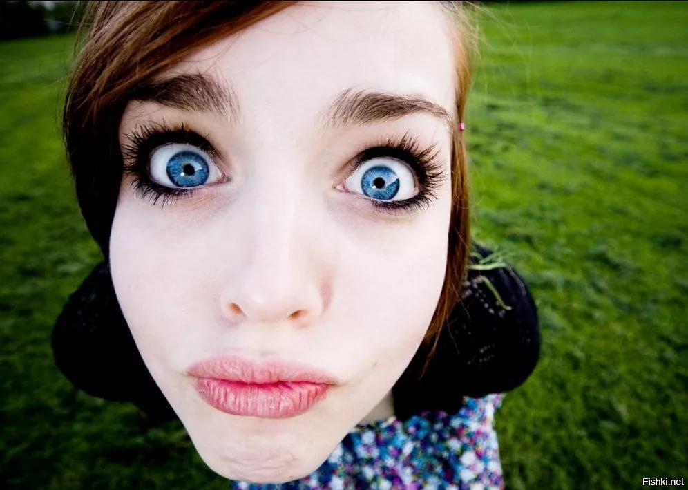 Девушка с огромными глазами картинки