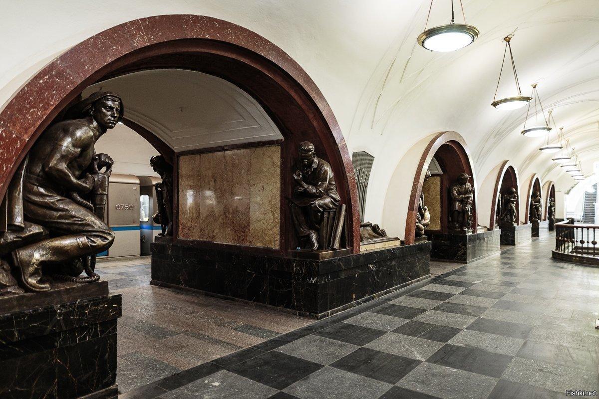 состояло единственной вход в метро площадь революции фото первых нескольких километров