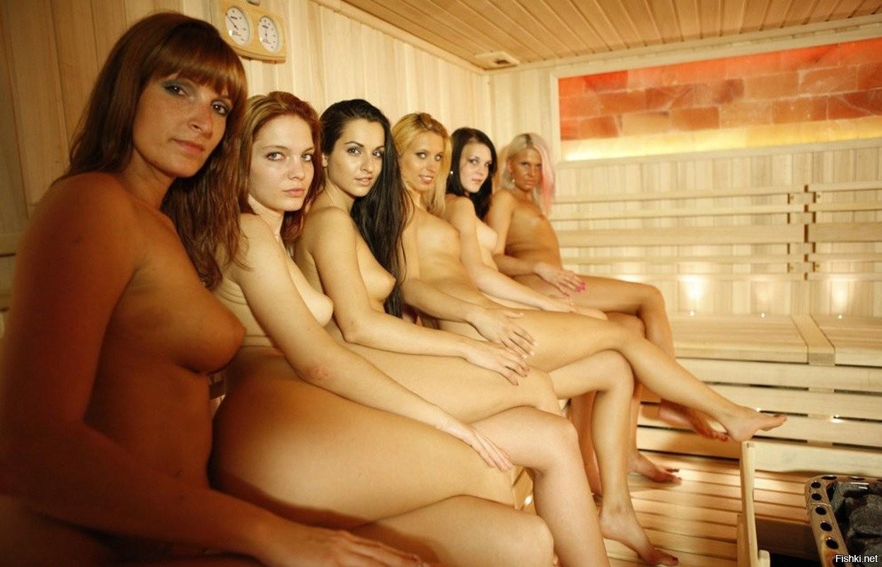 Coed nude sauna pics