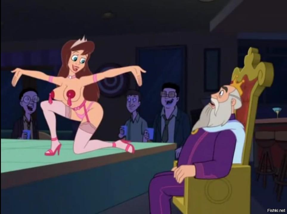 Cartoon strip naked